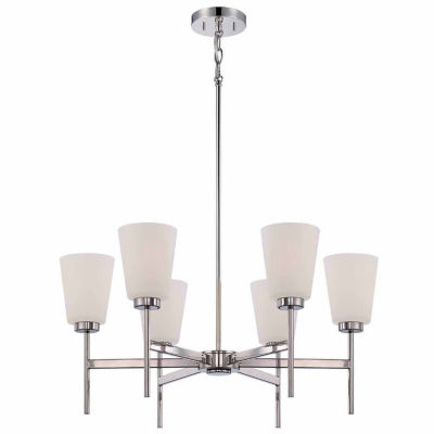 Filament Design 6-Light Polished Nickel Chandelier