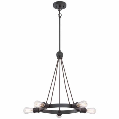 Filament Design 5-Light Aged Bronze Chandelier