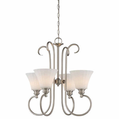 Filament Design 4-Light Brushed Nickel Chandelier