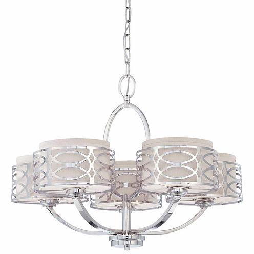 Filament Design 5-Light Polished Nickel Chandelier