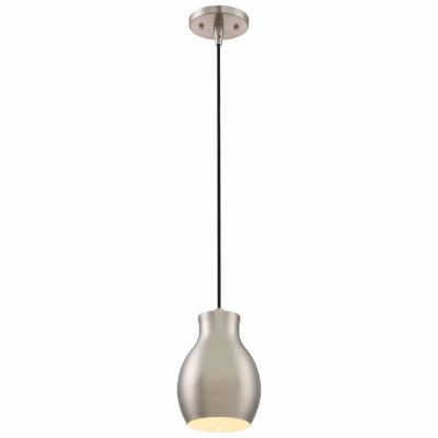 Filament Design 1-Light Brushed Nickel White Accent Pendant Mini-Pendant