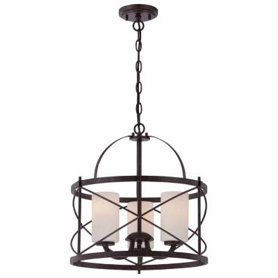 Filament Design 3-Light Old Bronze Pendant
