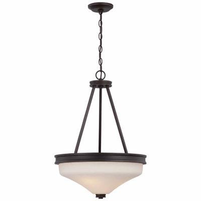 Filament Design 3-Light Mahogany Bronze Pendant