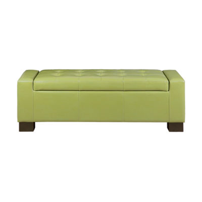 Madison Park Aura Tufted Top Storage Bench