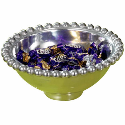 "St. Croix Trading Kindwer 6"" Aluminum Imperial Beaded Round Bowl"