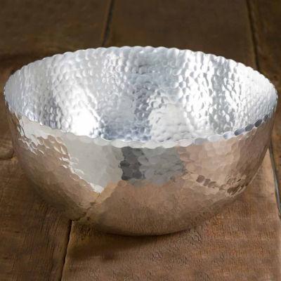 """St. Croix Trading Kindwer Large 14"""" Hammered Aluminum Petal Bowl"""