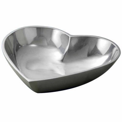 St. Croix Trading Polished Aluminum Heart Bowl