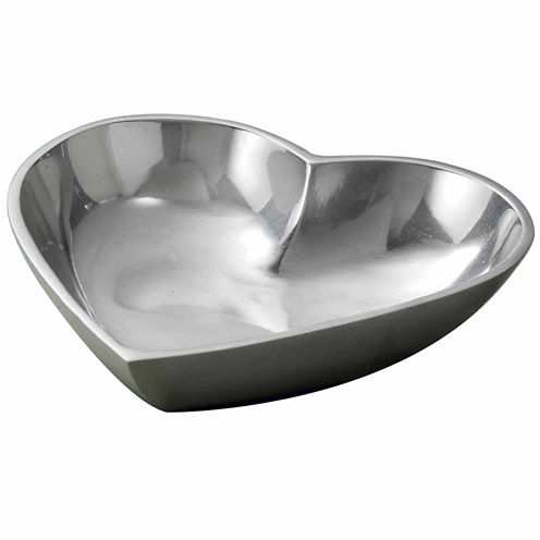 St. Croix Trading Polished Aluminum Heart Bowl