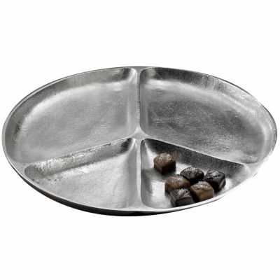 """St. Croix Trading Kindwer 15"""" Peace Four Section Aluminum Serving Tray"""