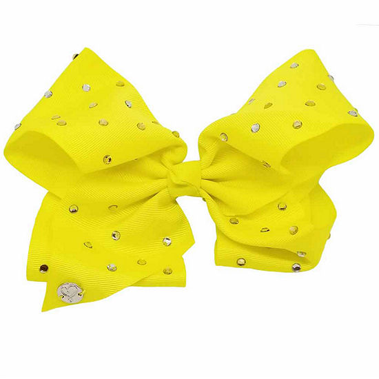 JoJo Siwa Large Signature Hair Bow w/Rhinestone Yellow
