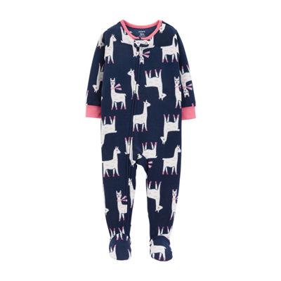 Carter's Fleece Footed One Piece Sleep - Baby Girl