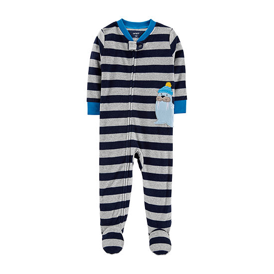 fa0b111bd Carters Long Sleeve One Piece Pajama Toddler Boys JCPenney