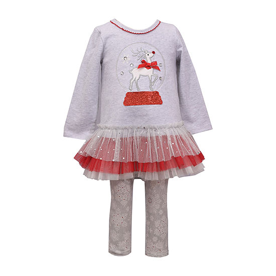 Bonnie Jean Christmas Girls 2-pc. Legging Set-Baby