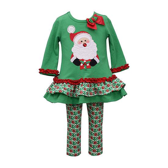 Bonnie Jean Christmas Girls 2-pc. Legging Set-Baby