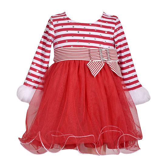 Bonnie Jean Girls Long Sleeve A-Line Dress - Baby