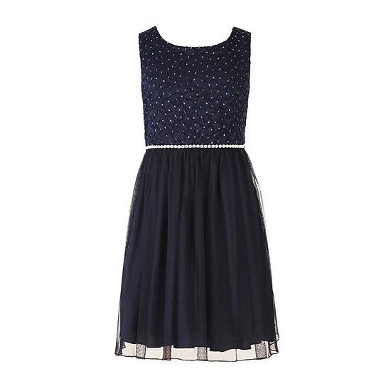 Speechless Girls Embellished Sleeveless A-Line Dress