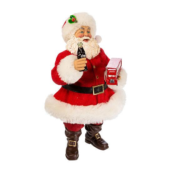 Kurt Adler 10-Inch Santa Holding Coca-Cola® Truck Figurine