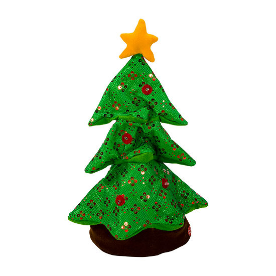 Kurt Adler Battery-Operated Singing And Rocking Christmas Tree Tabletop Decor