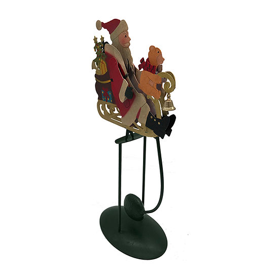 Kurt Adler 13-Inch Santa In Sleigh Pendulum Christmas Figurine