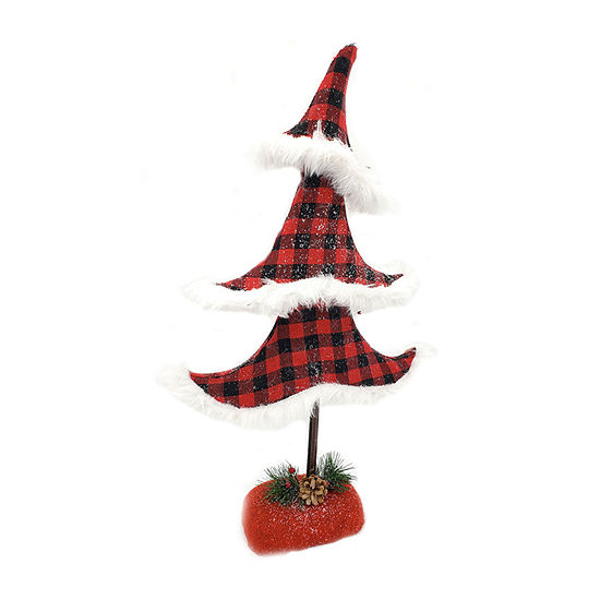 Kurt Adler Mistletoe Farms 22-Inch Plaid Christmas Tree Tabletop Decor
