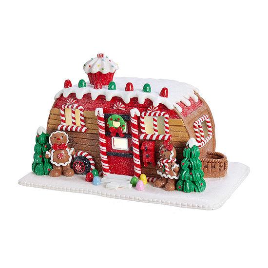 Kurt Adler 6-Inch Gingerbread Camper House Tabletop Decor