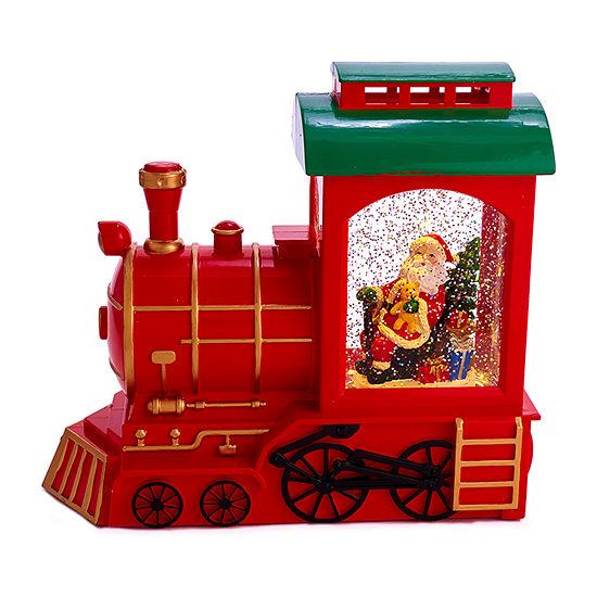 Kurt Adler 9.6-Inch Battery-Operated Train And Santa Motion Christmas Figurine