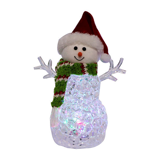 Kurt Adler 9.45-Inch Battery-Operated Light-Up Snowman Figurine
