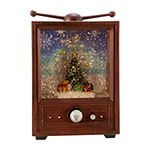 Kurt Adler 11-Inch Battery-Operated Led Muscial Christmas Tree Water Tv With Motion Tabletop Decor