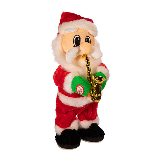 Kurt Adler 14-Inch Battery-Operated Dancing Jazz Santa Christmas Figurine