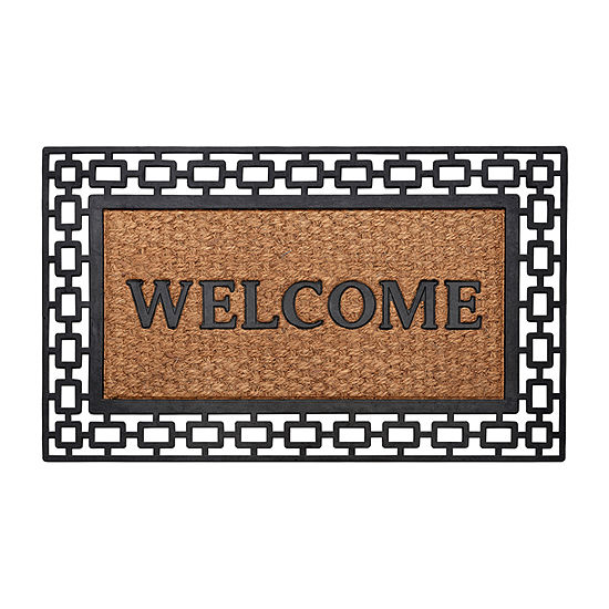 Achim Wrought Iron Art Deco Rectangular Indoor/Outdoor Doormat