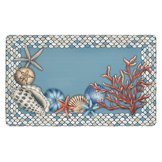 Achim Anti Fatigue Coastal Rectangular Indoor Kitchen Mat