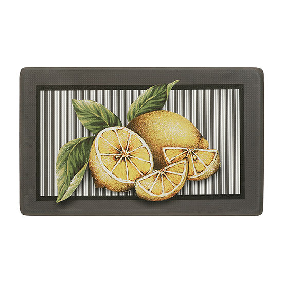 Achim Lemon Drop Rectangular Anti-Fatigue Indoor Kitchen Mat