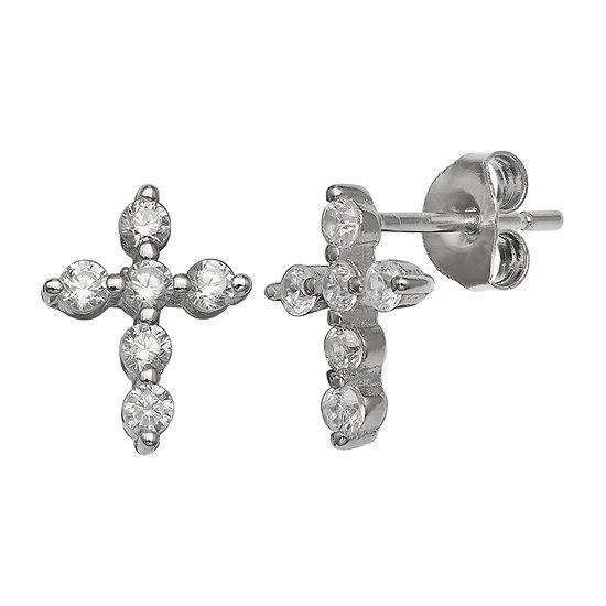 Silver Treasures Sterling Silver 10.5mm Stud Earrings