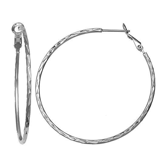 Silver Reflections Hoop Earrings
