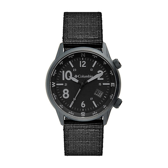 Columbia Sportswear Co. Unisex Adult Black Strap Watch-Csc01-004