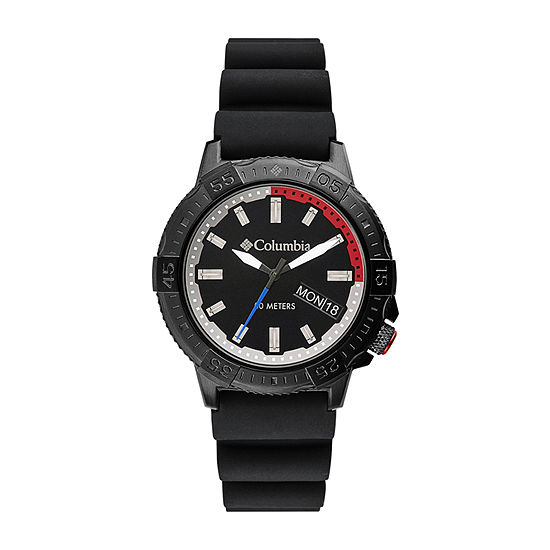 Columbia Sportswear Co. Mens Black Strap Watch-Csc03-001