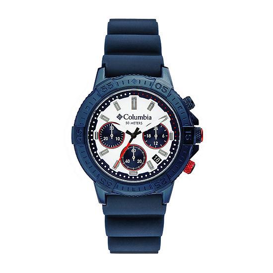 Columbia Sportswear Co. Mens Blue Strap Watch-Csc03-006