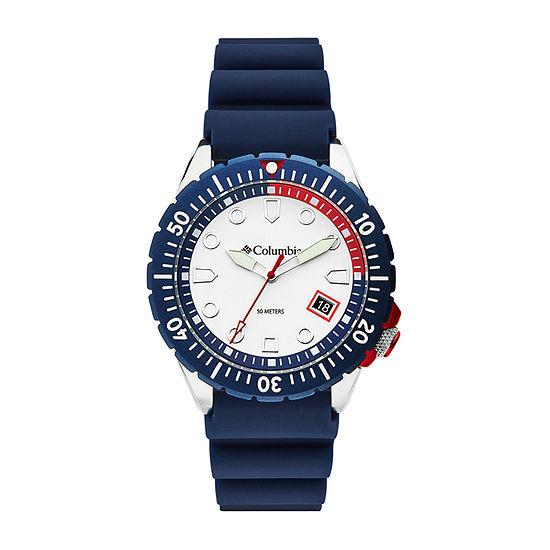 Columbia Sportswear Co. Unisex Adult Blue Strap Watch-Csc04-003