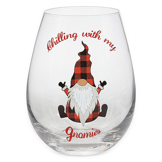 Mixit Holiday Oversized Stemless Wine Glass