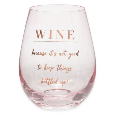 Mixit Pamper Party Stemless Wine Glass