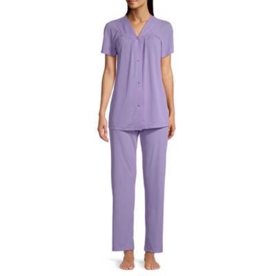 Lavenderi Womens Short Sleeves Sleepwear Classical Pajama Set