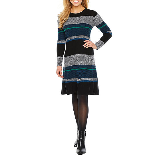 Ronni Nicole Long Sleeve Midi Sweater Dress