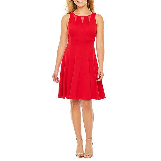 Danny & Nicole Sleeveless Midi Fit & Flare Dress