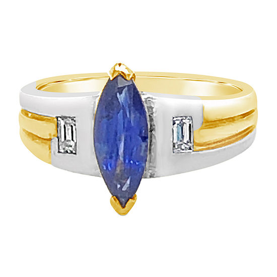 Le Vian Grand Sample Sale™ Ring featuring Blueberry Sapphire™ Vanilla Diamonds® set in 18K Two Tone Gold
