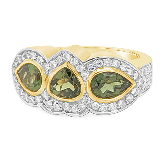 Le Vian Grand Sample Sale™ Ring featuring Hunters Green Tourmaline™ Vanilla Diamonds® set in 14K Honey Gold™