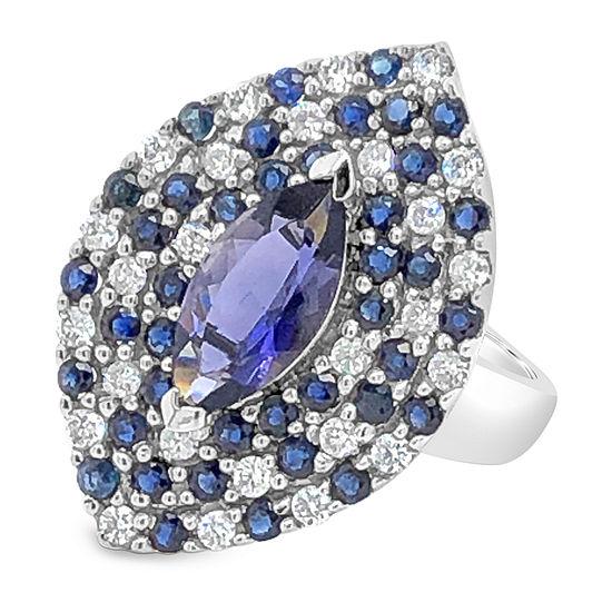 Le Vian Grand Sample Sale™ Ring featuring Iolite Blueberry Sapphire™ Vanilla Diamonds® set in 14K Vanilla Gold®