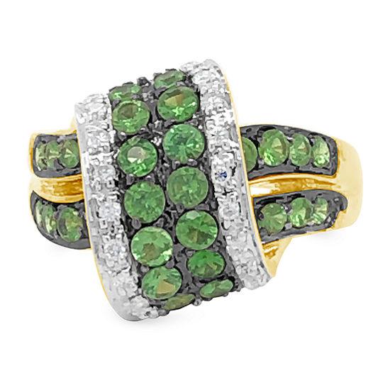 Le Vian Grand Sample Sale™ Ring featuring Forest Green Tsavorite™ Vanilla Diamonds® set in 14K Honey Gold™