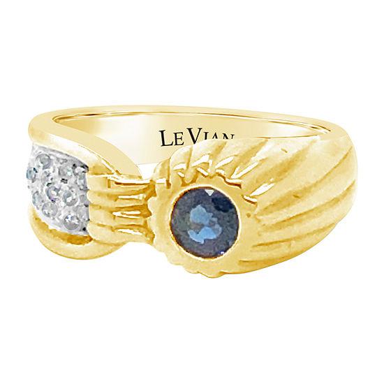 Le Vian Grand Sample Sale™ Ring featuring Blueberry Sapphire™ Vanilla Diamonds® set in 18K