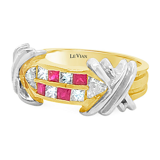 Le Vian Grand Sample Sale™ Ring featuring Passion Ruby™ Vanilla Diamonds® set in 14K Two Tone Gold