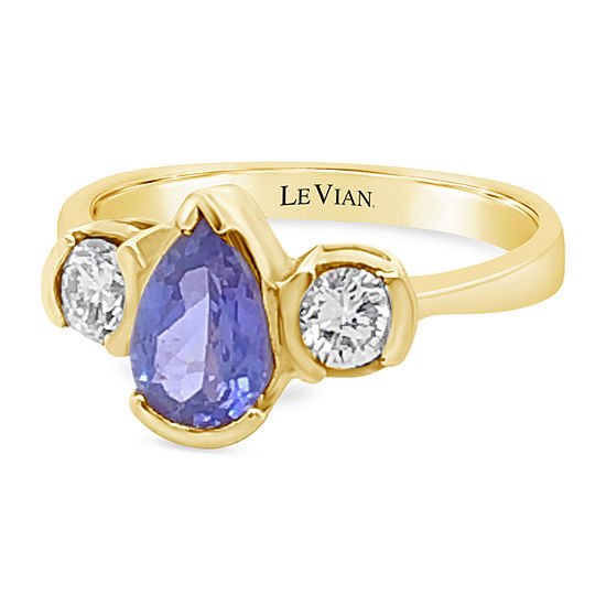 Le Vian Grand Sample Sale™ Ring featuring Blueberry Tanzanite® Vanilla Diamonds® set in 18K Honey Gold™